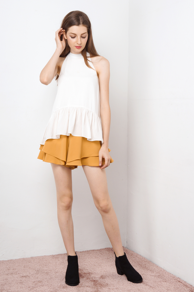 SHERYL DROPWAIST TOP WHITE