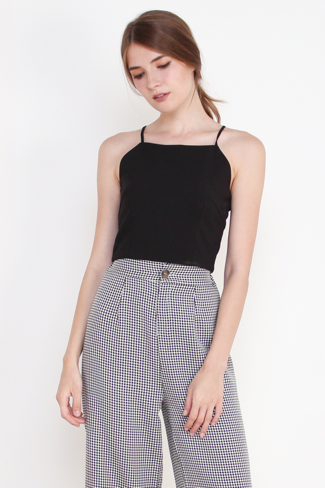 CORA CROPPED TOP BLACK