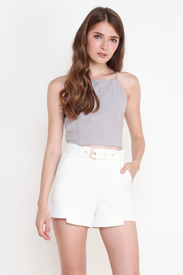 CORA CROPPED TOP GREY