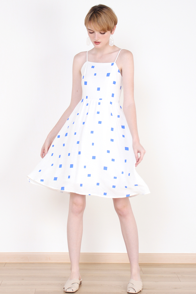 DAPHNE CONFETTI DRESS BLUE