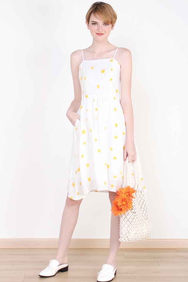 DAPHNE CONFETTI DRESS YELLOW