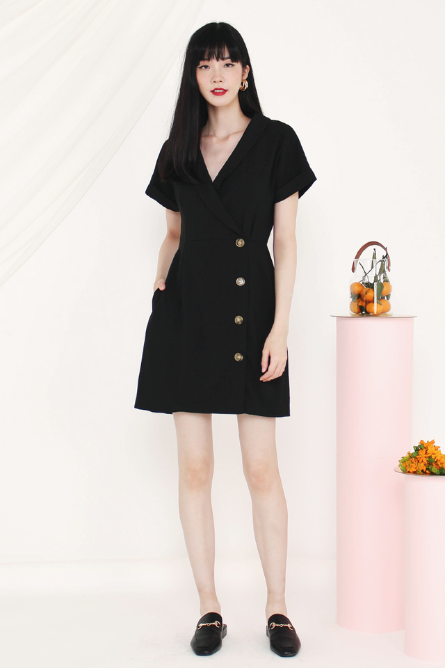 MADELYN TUX DRESS BLACK