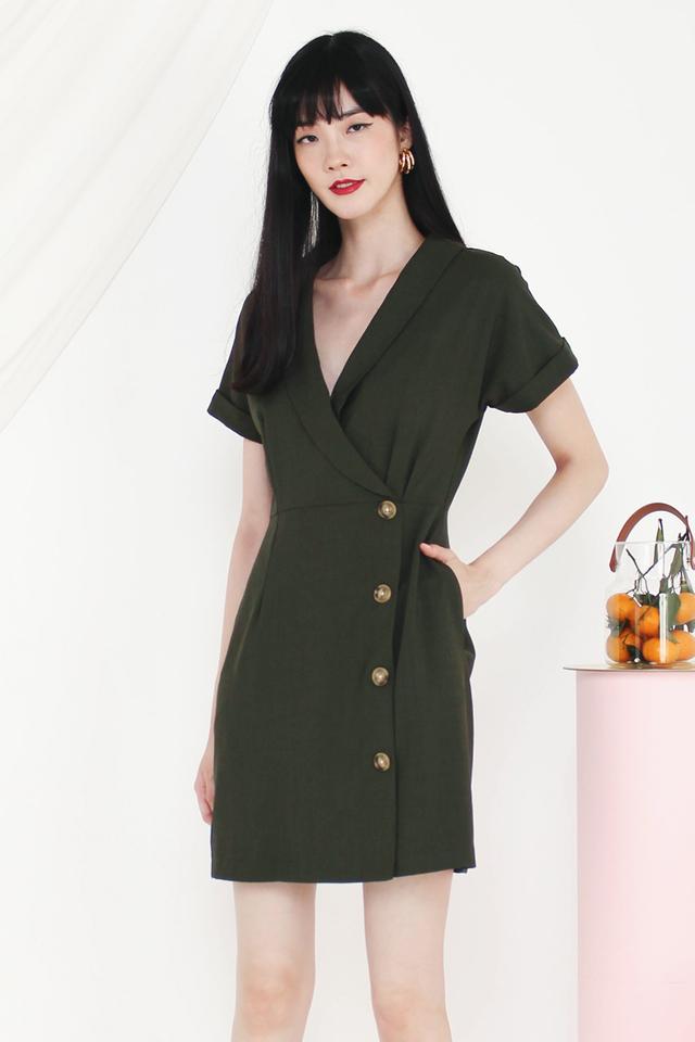 MADELYN TUX DRESS OLIVE
