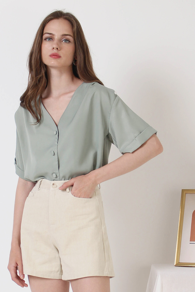 ELENA RELAXED BLOUSE SAGE