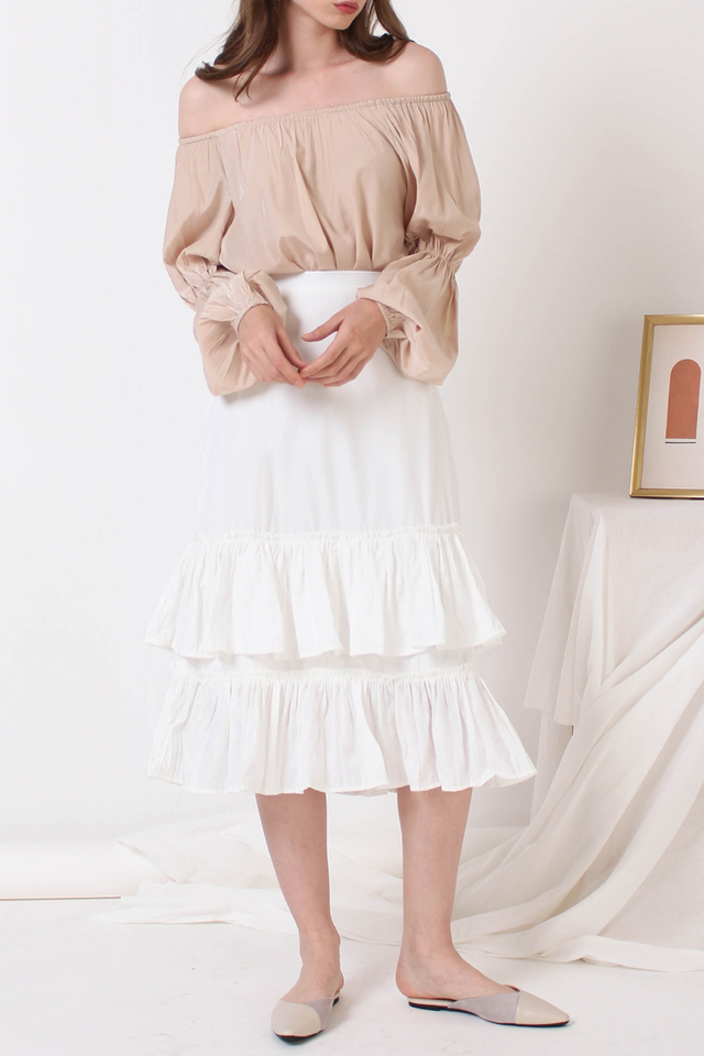 SAMMI PLEATED SKIRT WHITE