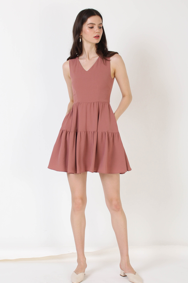 ANTHEA TIER DRESS PEONY