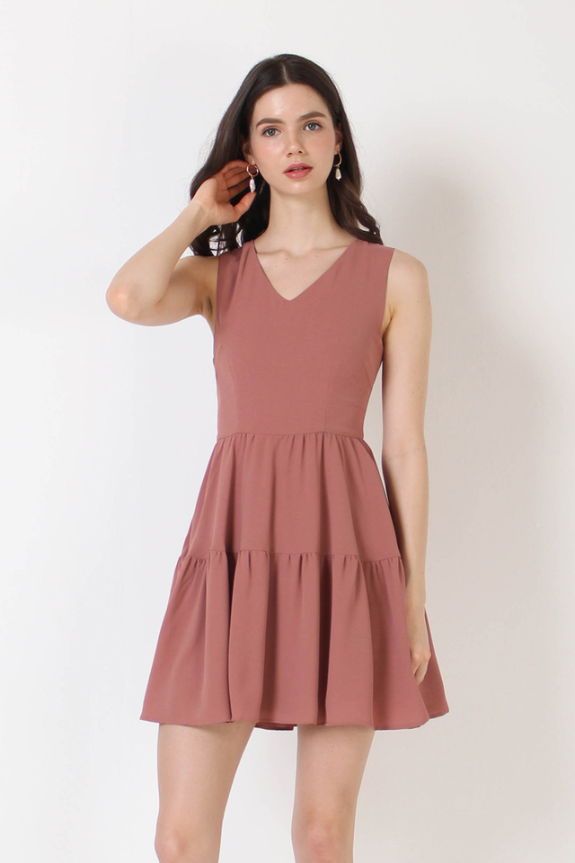 ANTHEA TIER DRESS PEONY
