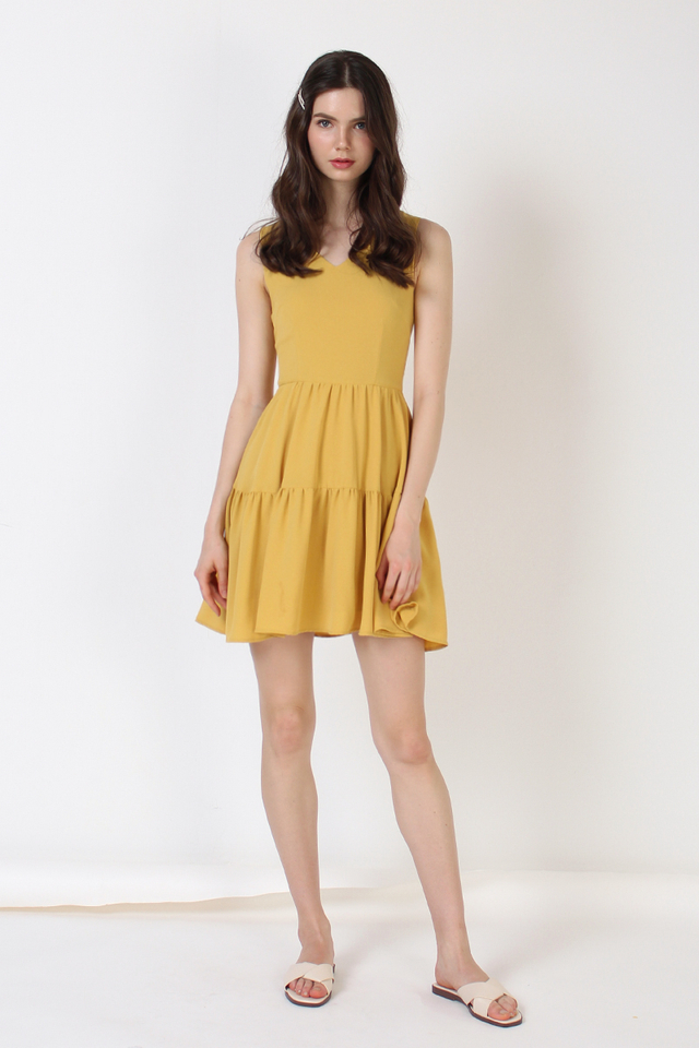 ANTHEA TIER DRESS SUNSHINE