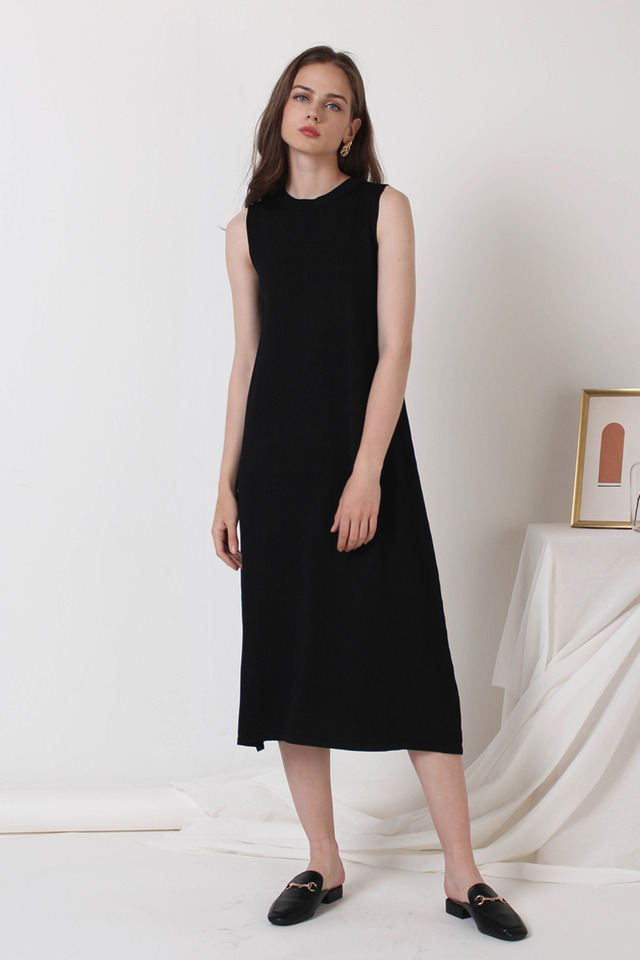 ALLISON KNIT DRESS BLACK
