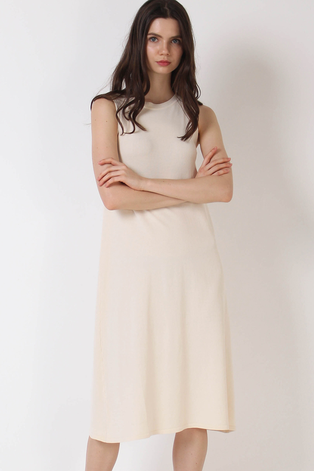 ALLISON KNIT DRESS NUDE