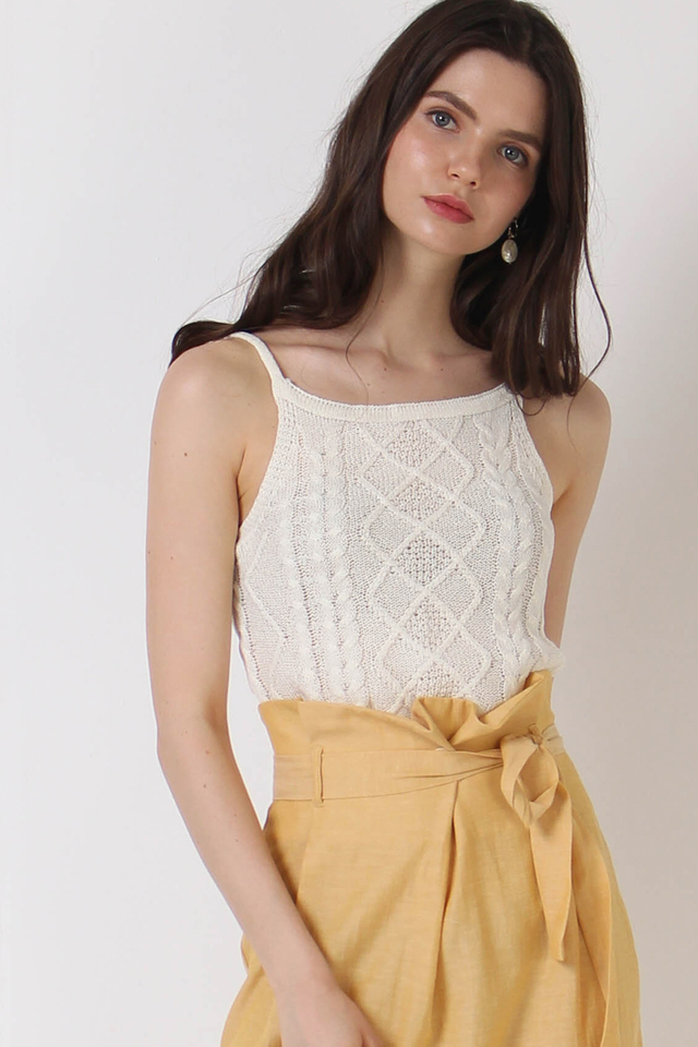 LIZ KNIT TOP WHITE