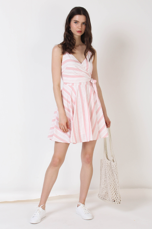 MADDOX WRAP DRESS PINK