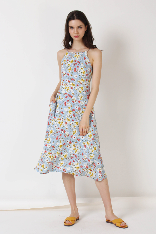 PIPER HIGH NECK DRESS FLORAL
