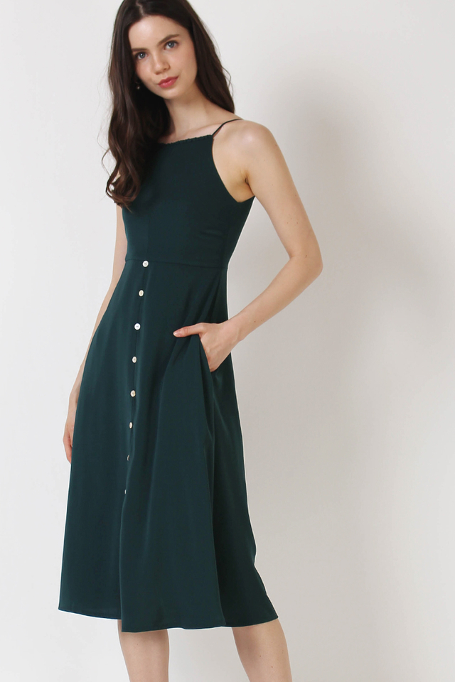 PIPER HIGH NECK DRESS FOREST