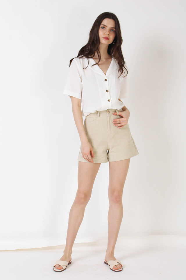 MILA FLAP COLLAR SHIRT WHITE