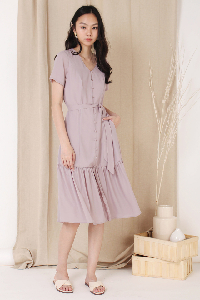 ASTRIA BUTTON DOWN DRESS DUSTY PINK