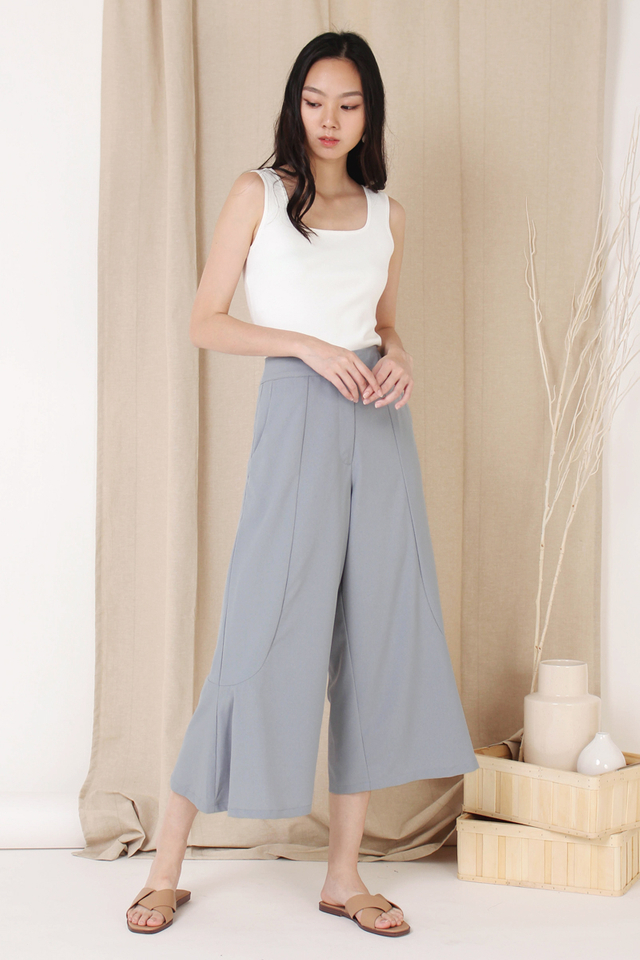 EDEN BUTTON CULOTTES SLATE BLUE
