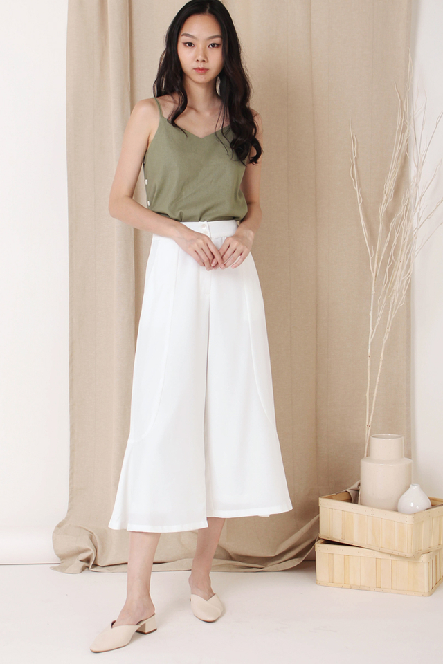 EDEN BUTTON CULOTTES WHITE