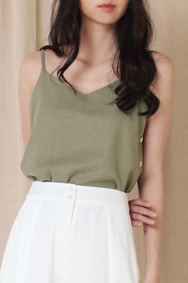 ELLE SIDE BUTTON CAMI THYME