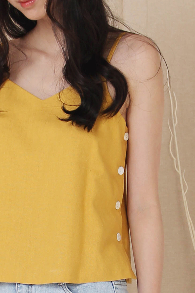 ELLE SIDE BUTTON CAMI MUSTARD