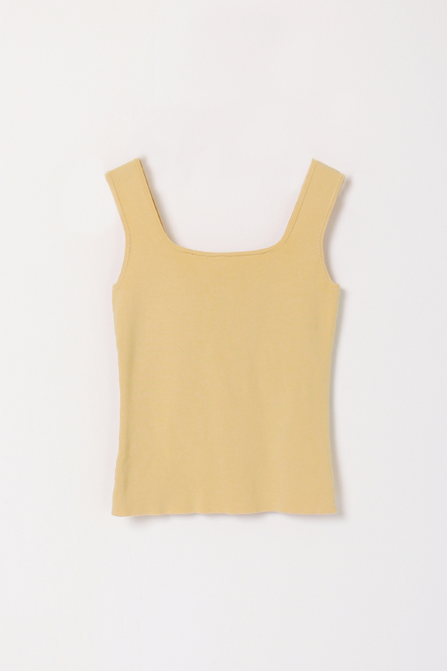 HARRIET SQUARE KNIT TOP YELLOW (RESTOCK)