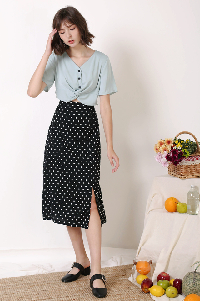 HOLLY POLKADOT SKIRT BLACK