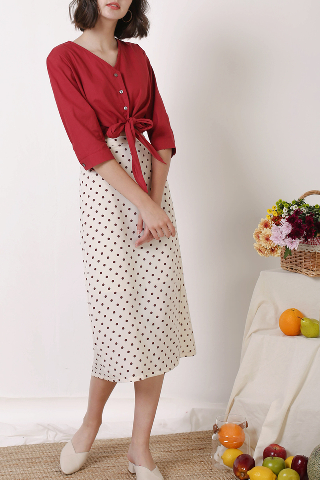 HOLLY POLKADOT SKIRT NUDE