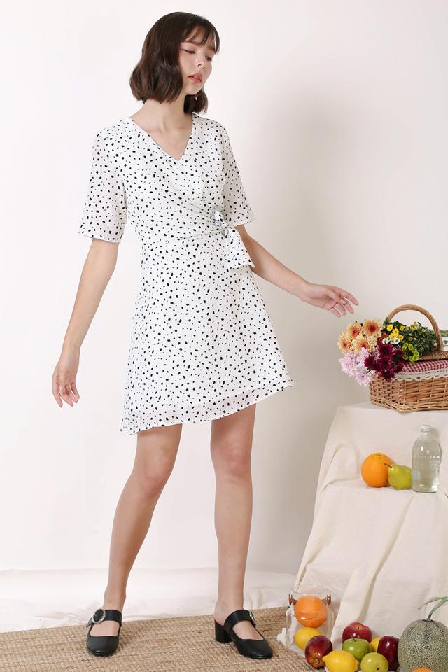 LEAH TIE WAIST DRESS WHITE