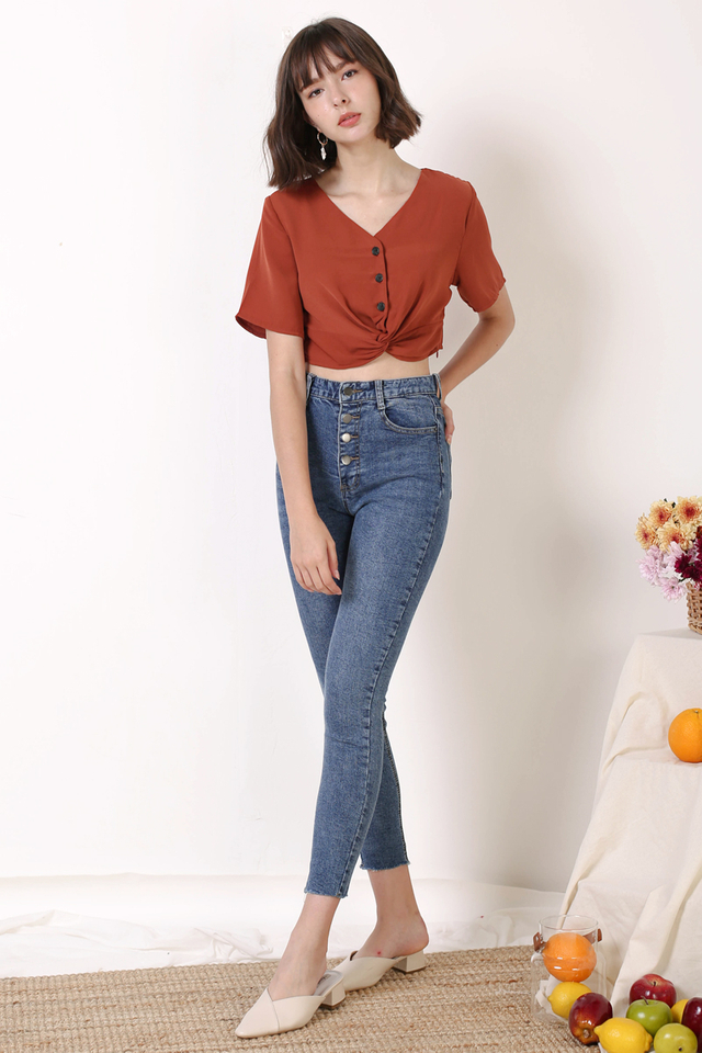 CHLOE TWIST FRONT TOP RUST