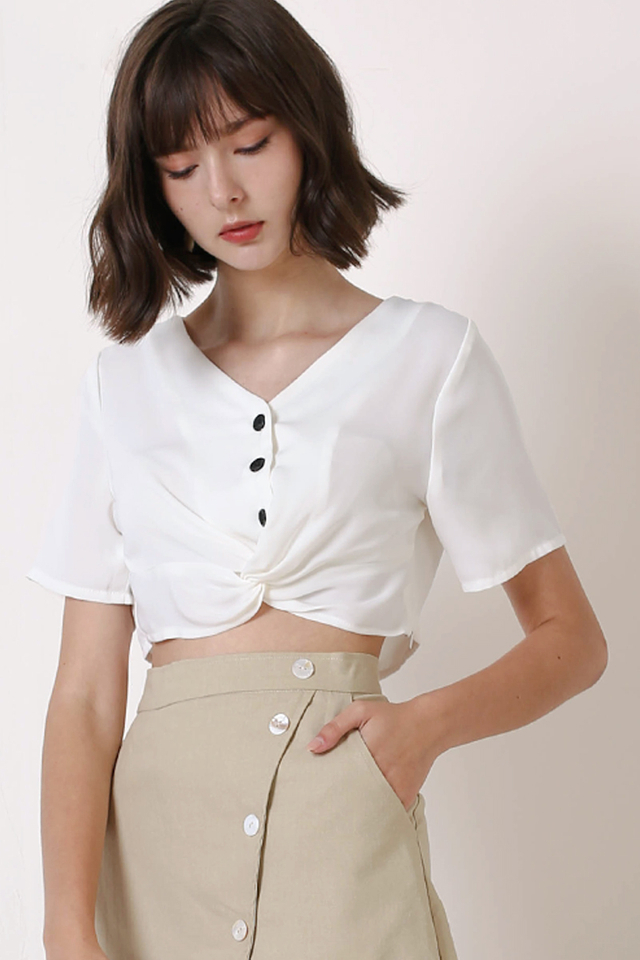 CHLOE TWIST FRONT TOP WHITE