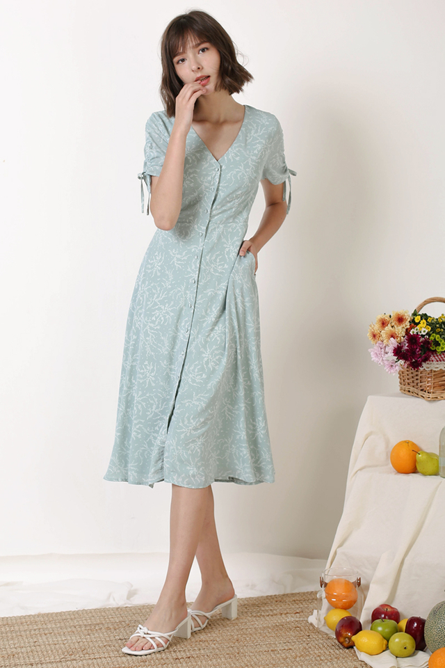LILITH BUTTONDOWN DRESS SAGE