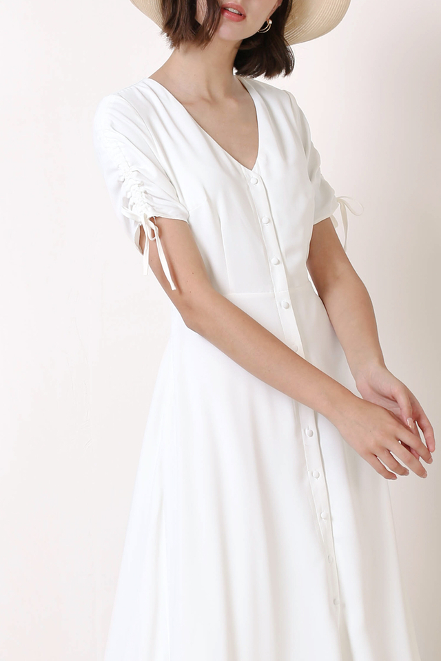 LILITH BUTTONDOWN DRESS WHITE
