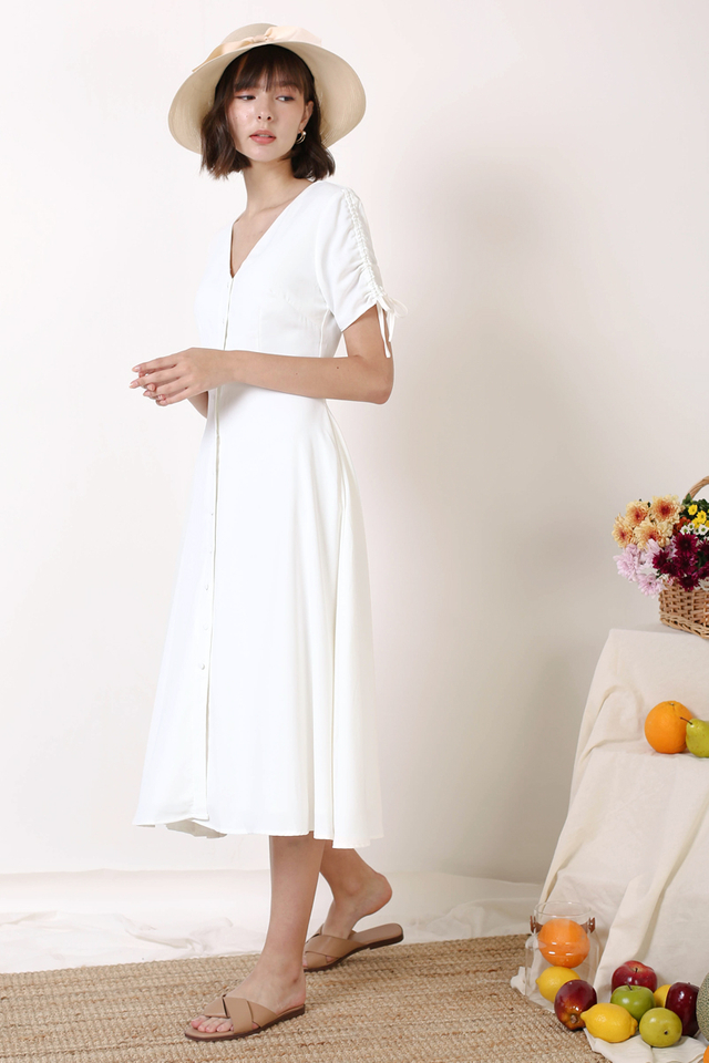LILITH BUTTONDOWN DRESS WHITE