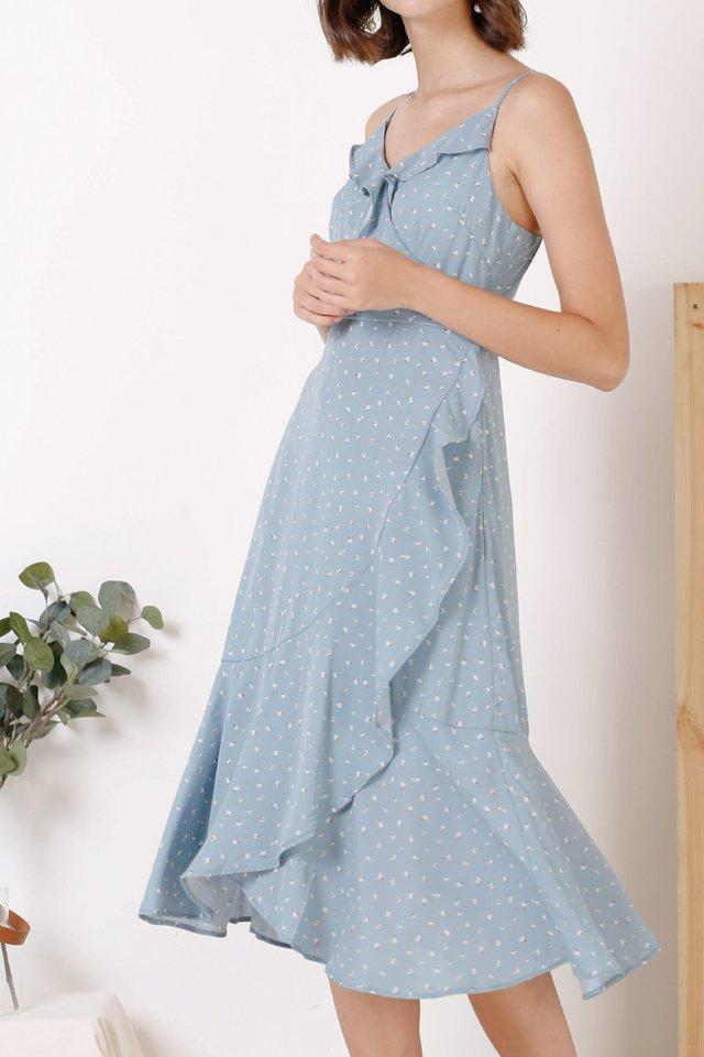 FELICIA RUFFLES DRESS BLUE