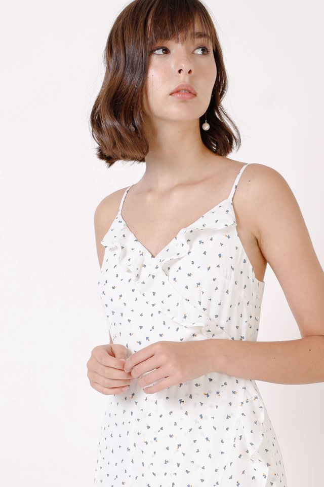 FELICIA RUFFLES DRESS WHITE