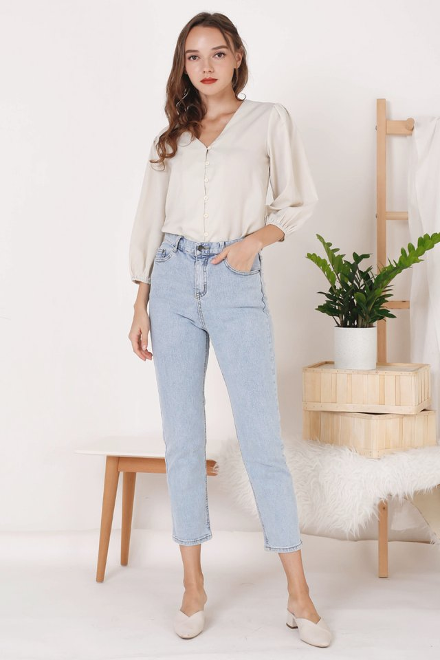 ADELINE BUTTON TOP BONE