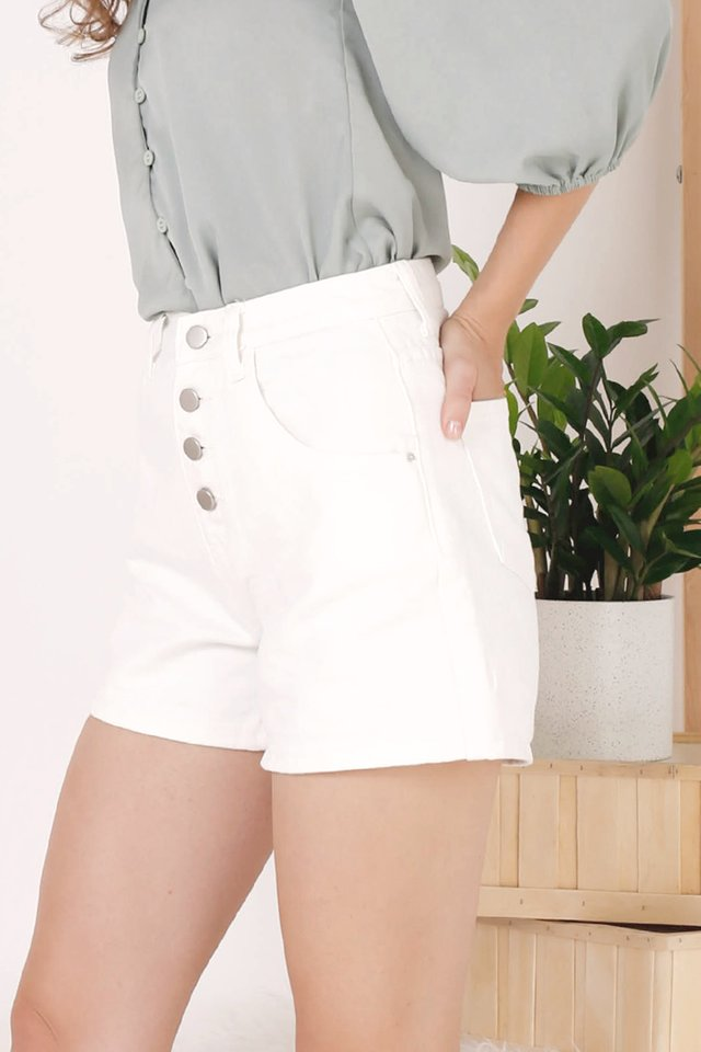 AIDEN DENIM SHORTS WHITE