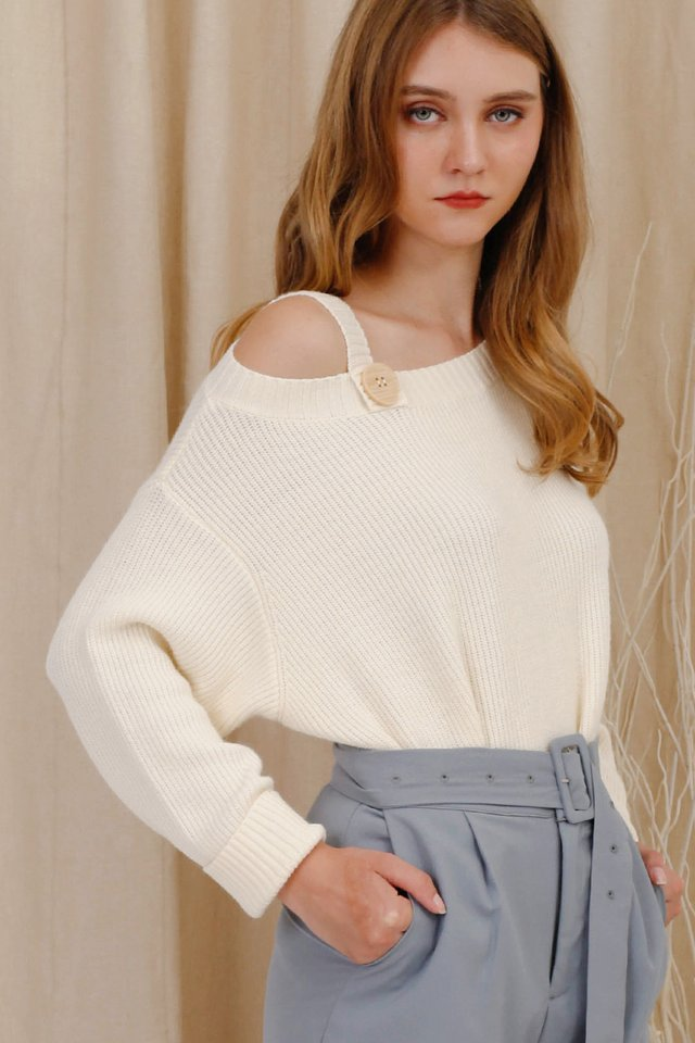 ASTRID BUTTON KNIT SWEATER