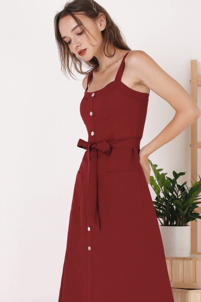 COLETTE POCKET DRESS WINE