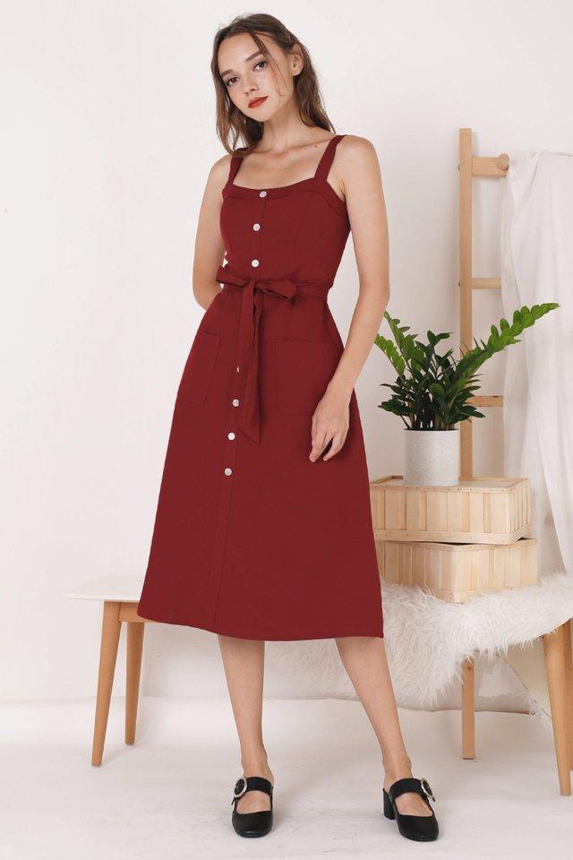 COLETTE POCKET DRESS WINE