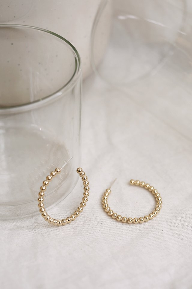 GOLD MINI BALL HOOPS