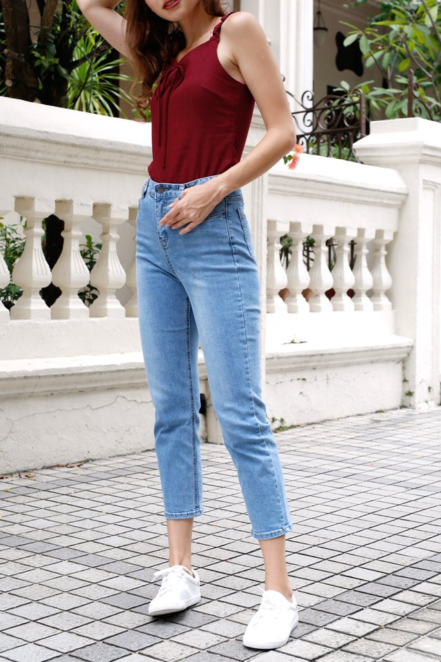 MAX HIGH RISE JEANS MIDWASH