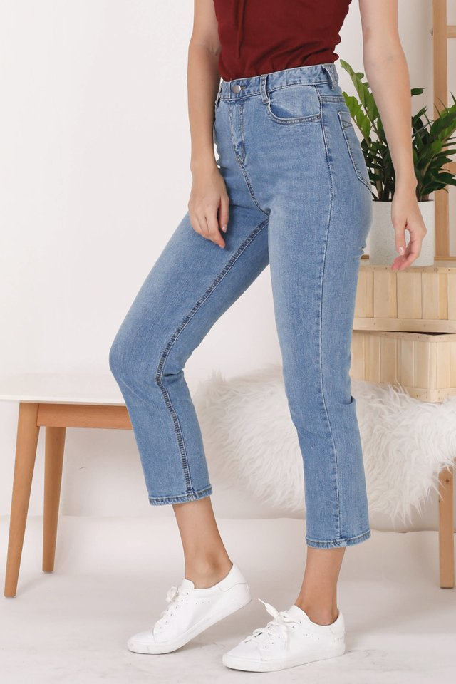 MAX HIGH RISE JEANS (XS) MIDWASH
