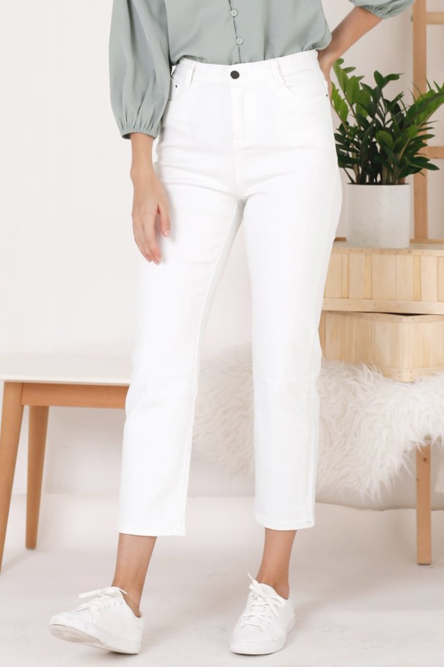 MAX HIGH RISE JEANS WHITE (BACKORDER)