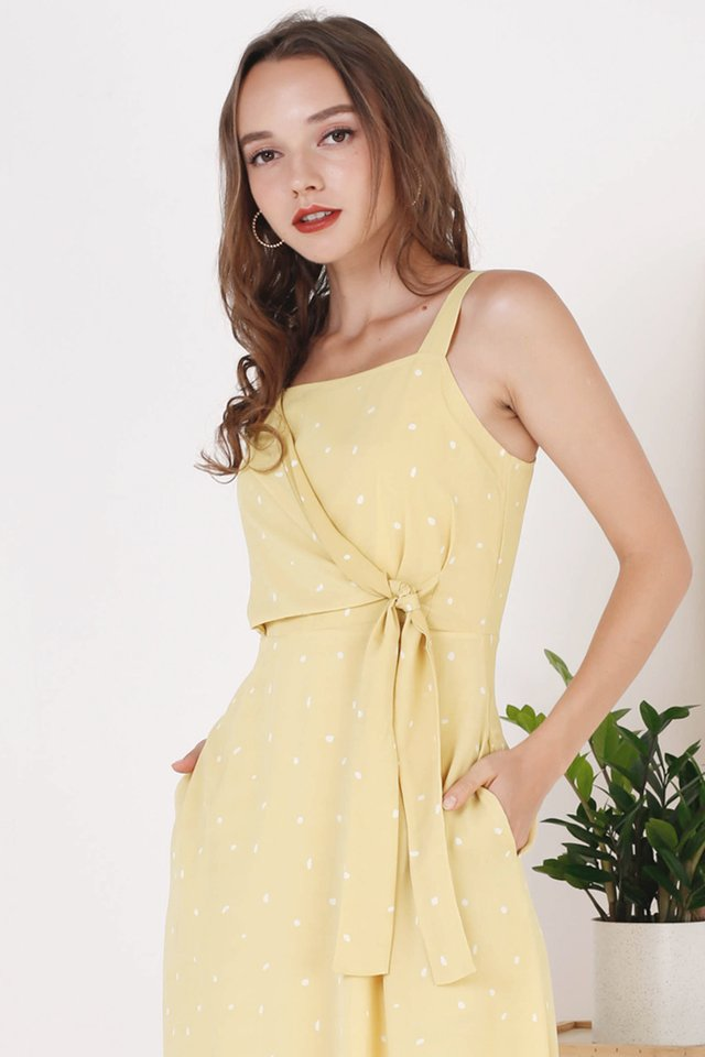 OLIVIA TIE WAIST DRESS YELLOW