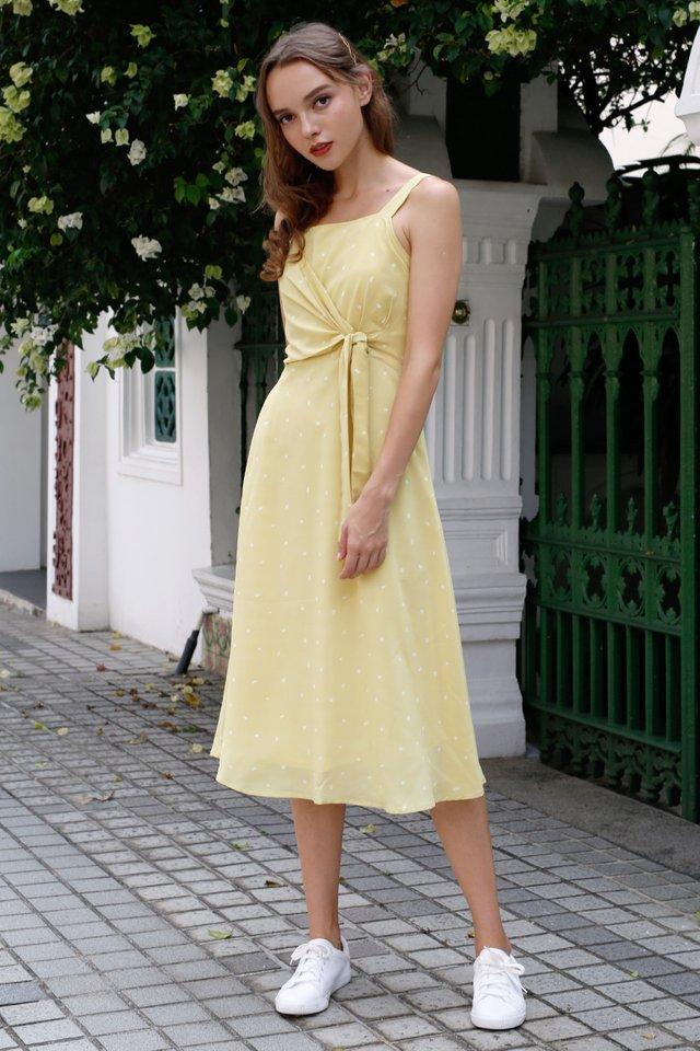OLIVIA TIE WAIST DRESS YELLOW