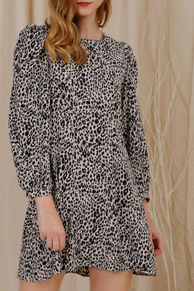 XARA LEOPARD DRESS