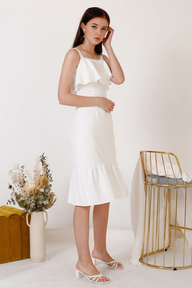ALENGA TULIP DRESS WHITE
