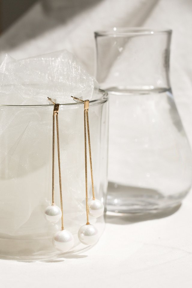 TWIN PEARL DROP EARRINGS