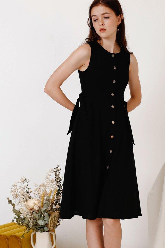JAMIE TIE WAIST DRESS BLACK